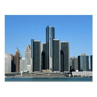 Detroit Skyline 4 Postcard