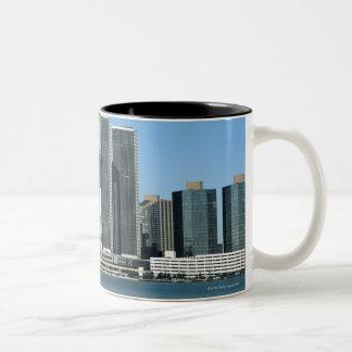 Detroit Skyline 4 Two-Tone Coffee Mug