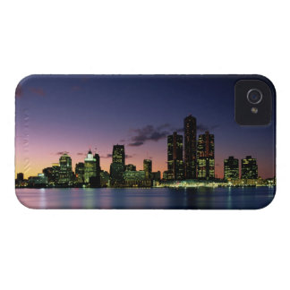 Detroit Skyline at Dusk 2 Case-Mate iPhone 4 Case