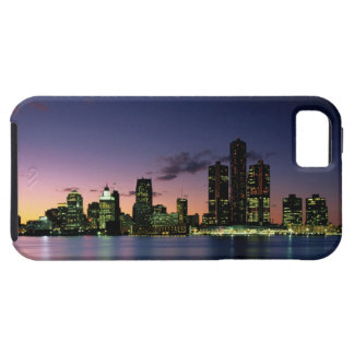 Detroit Skyline at Dusk 2 Tough iPhone 5 Case