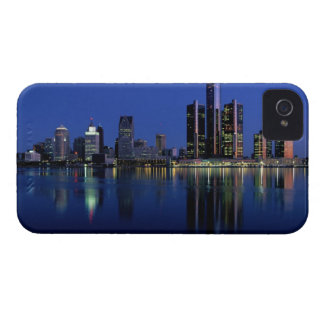 Detroit Skyline at Night Case-Mate iPhone 4 Cases