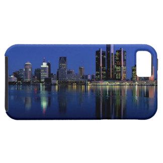 Detroit Skyline at Night Tough iPhone 5 Case