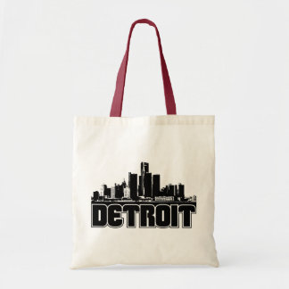 Detroit Skyline Budget Tote Bag