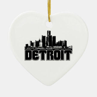 Detroit Skyline Christmas Ornament