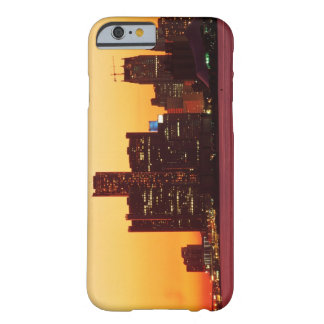Detroit skyline in colorful sunset barely there iPhone 6 case