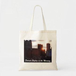 Detroit Skyline in the Morning Tote Bag