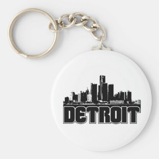 Detroit Skyline Key Ring