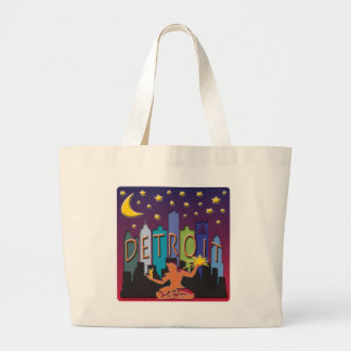 Detroit Skyline Mega Color Jumbo Tote Bag