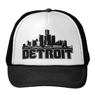 Detroit Skyline Mesh Hats
