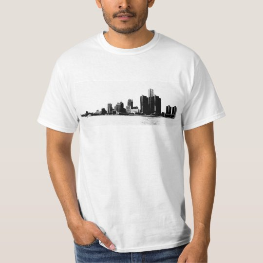 Detroit Skyline Photo T-Shirt