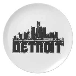 Detroit Skyline Plate