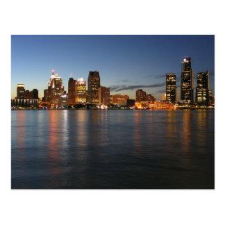 Detroit Skyline Post Card