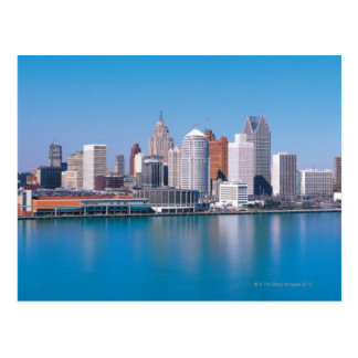 Detroit skyline postcard