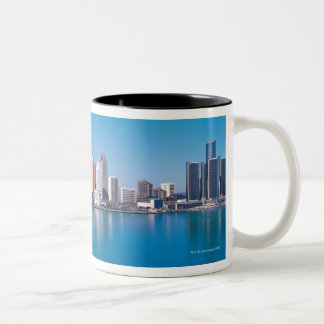 Detroit skyline Two-Tone coffee mug