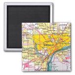 Detroit Square Magnet