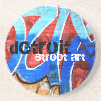 Detroit Street Art Coaster