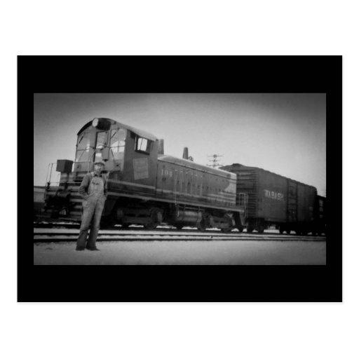 Detroit Terminal Railroad Diesel Engine 104 Postcards
