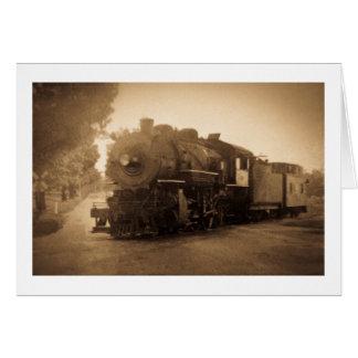 Detroit Terminal Railroad Engine at Adrian MI Greeting Card