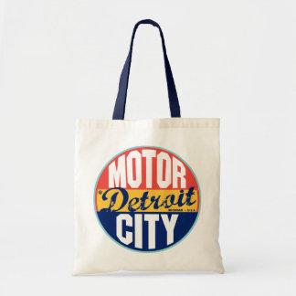 Detroit Vintage Label Tote Bags