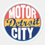 Detroit Vintage Label Round Sticker