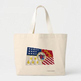 Detroit Waving Flag Canvas Bags
