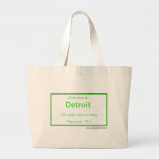 Detroit welcome canvas bags