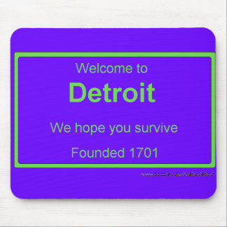 Detroit welcome mouse mat