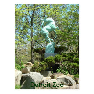 Detroit Zoo Statue Post Card