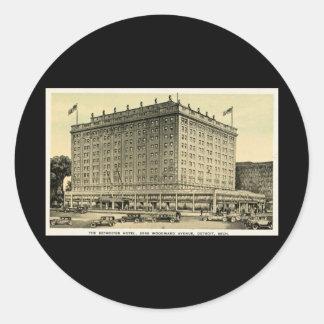 Detroiter Hotel Woodward Ave, Detroit, Michigan Classic Round Sticker