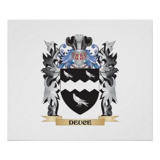 Deuce Coat of Arms - Family Crest Poster