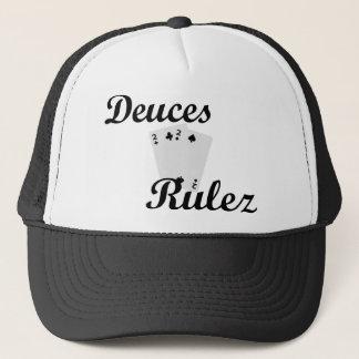 Deuces Black poker Trucker Hat