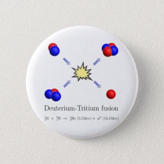 Deuterium-Tritium fusion with equation 6 Cm Round Badge