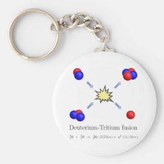 Deuterium-Tritium fusion with equation Key Ring
