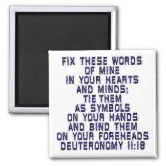 Deuteronomy 11:18 magnet