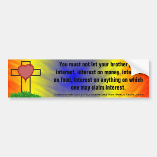Deuteronomy 23:19 Scriptures New World Translation Bumper Stickers
