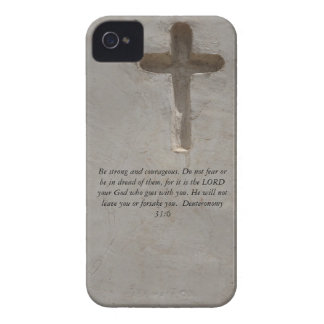 Deuteronomy 31:6 Bible Verses about courage Case-Mate iPhone 4 Cases