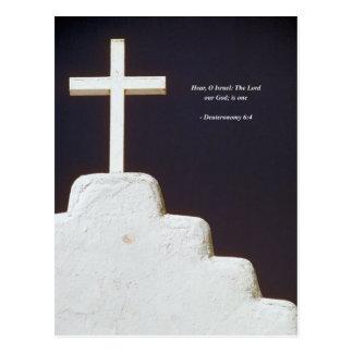 DEUTERONOMY 6-4 Bible Verse Postcard