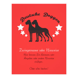 Deutsche Doggen 21.5 Cm X 28 Cm Flyer