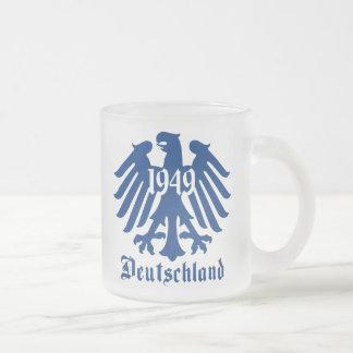 Deutschland 1949 German Eagle Emblem Frosted Glass Mug