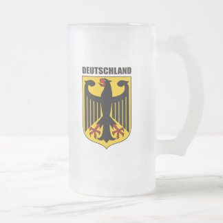Deutschland Coat of Arms Frosted Glass Mug