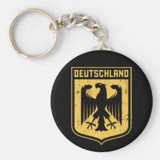 Deutschland Eagle -  German Coat of Arms Basic Round Button Key Ring