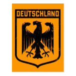 Deutschland Eagle -  Germany Coat of Arms Postcard