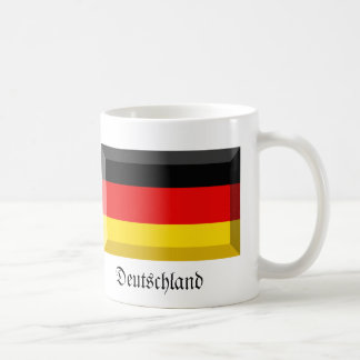 Deutschland Flag Gem Classic White Coffee Mug