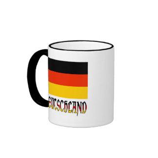 Deutschland Flag & Word Ringer Mug