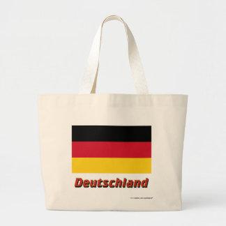 Deutschland Flagge mit Namen Tote Bags