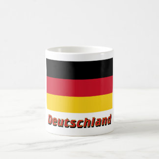 Deutschland Flagge mit Namen Classic White Coffee Mug