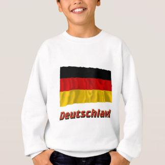 Deutschland Fliegende Flagge mit Namen Sweatshirt