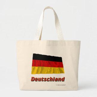 Deutschland Fliegende Flagge mit Namen Bags