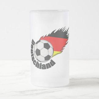 deutschland frosted glass mug