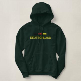 Deutschland Fussball Embroidered Hoodie